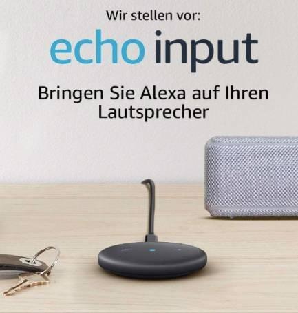 Amazon Echo Input Sprachsteuerung für 19,99€ inkl. Prime Versand (Vergleich: 31€)