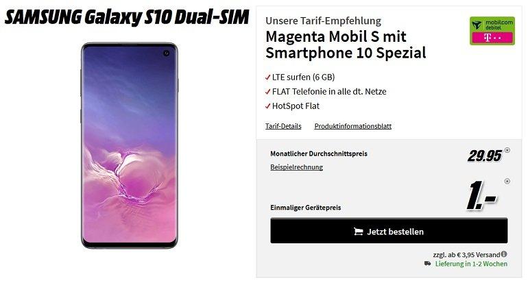 Samsung Galaxy S10 + Telekom Magenta Mobil S mit 6GB LTE