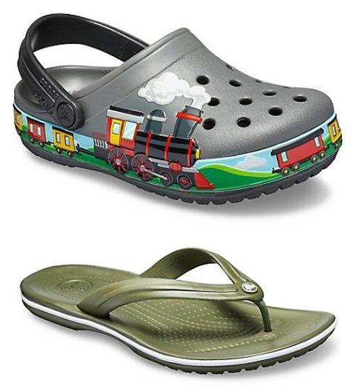 Crocs: 2 Paar für 40€ inkl. Versand, z.B. Crocband Flip + Kid`s Crock