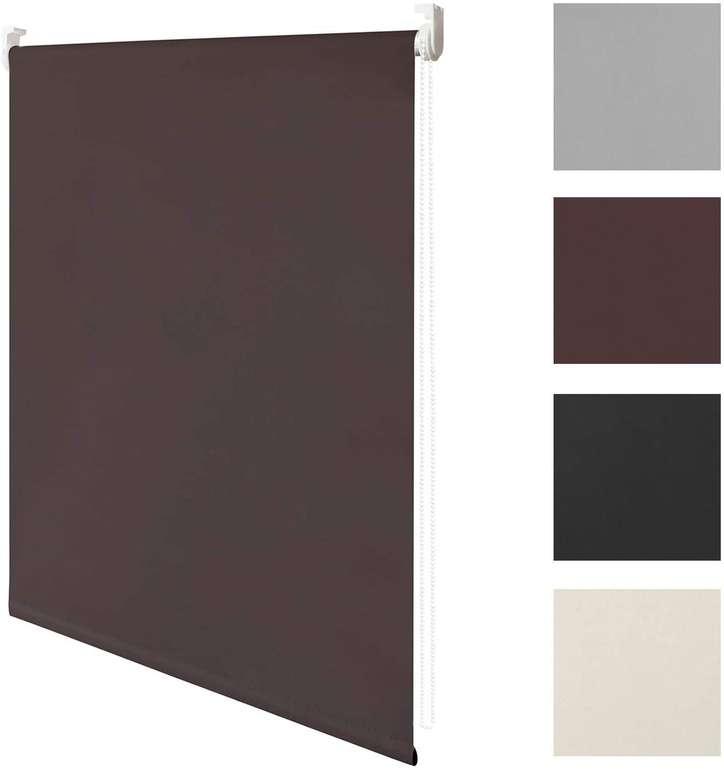 Wolketon Klemmfix Verdunkelungsrollo (verschiedene Farben & Größen), z.B. braun 80 x 160 cm für 12,59€