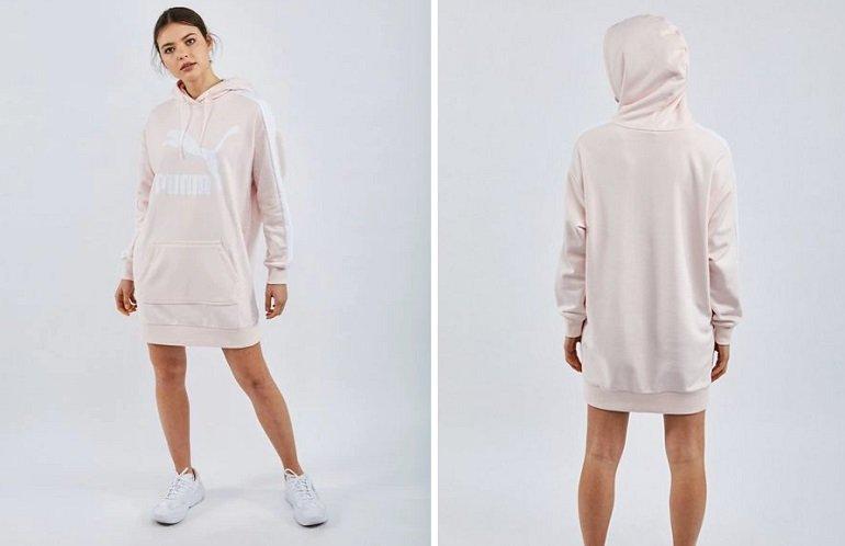 Puma Classics T7 Hooded Damen Kleid 2