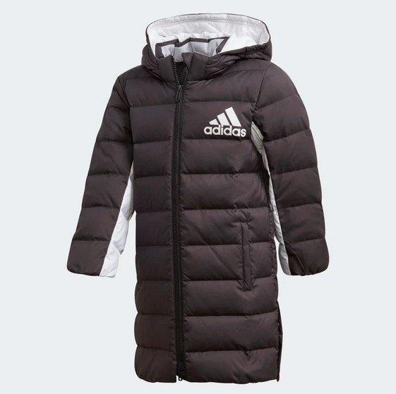 Adidas Long Kinder Daunenjacke in Schwarz für 112,46€ inkl. Versand (statt 150€)