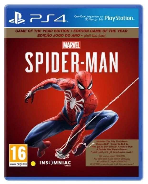 Marvel's Spider-Man (PS4) (Game of the Year) für 22,50€ inkl. Versand (statt 28€)