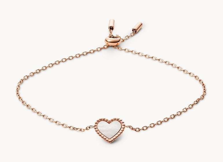 "Fossil Gliederarmband ""I Heart You"" (JF03693791) für 31,50€ (statt 45€)"