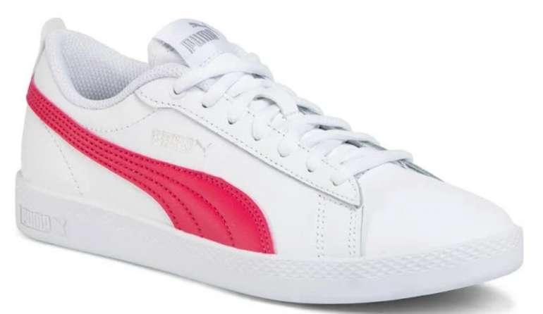 Puma Sneaker  'Smash Wns v2 L' in cranberry / weiß für 28,83€ inkl. Versand (statt 46€)