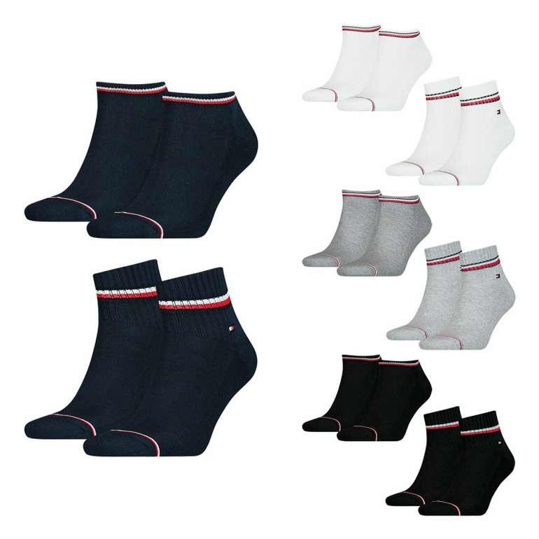 8 Paar Tommy Hilfiger Herren Iconic Sports Sneaker Quarter Sportsocken für 29,99€ (statt 40€)