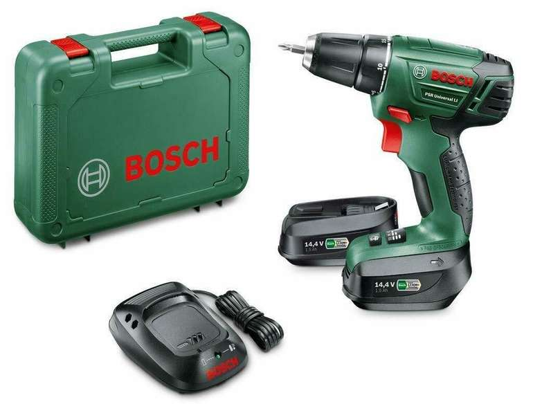 Bosch PSR Universal LI Akkuschrauber Bohrschrauber (2 Li-Ion Akkus mit 1,5 Ah) für 77€