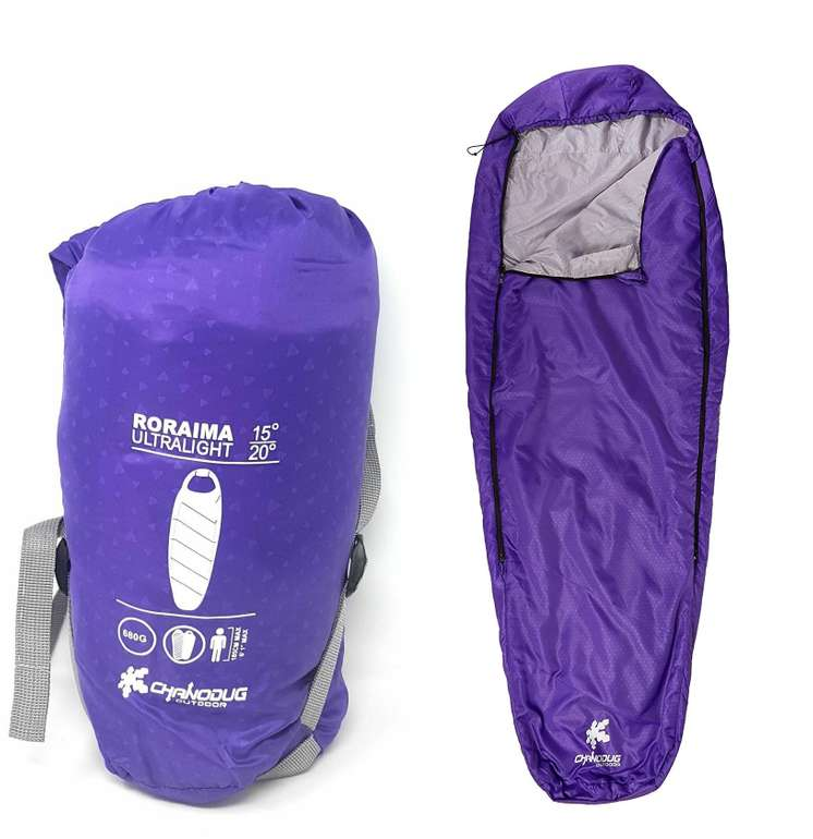 Kounga Schlafsack Camping Mumienschlafsack in Lila für 14,99€ inkl. Versand (statt 25€)