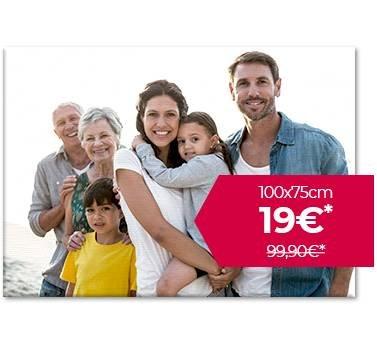 Muttertags-Angebot bei meinfoto - 100x75cm Foto-Leinwand für 19€ + 6,90€ VSK
