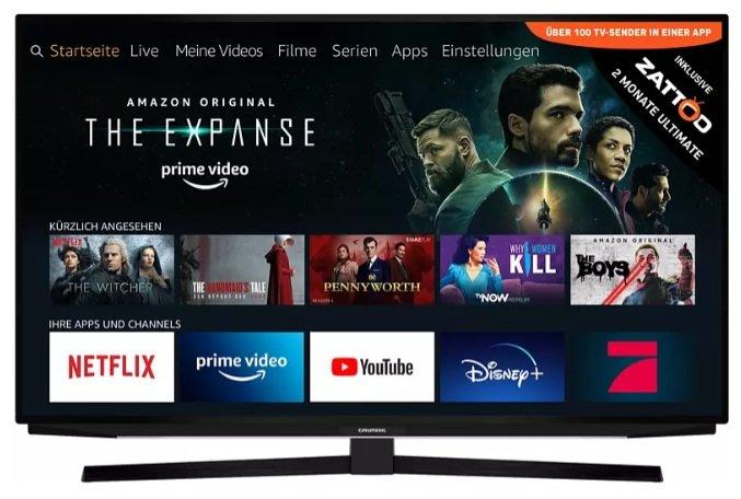 Grundig 65'' GUB 7040 FIRE LED TV (UHD 4K, SMART TV, Fire TV Experience) für 555€ inkl. Versand (statt 776€)