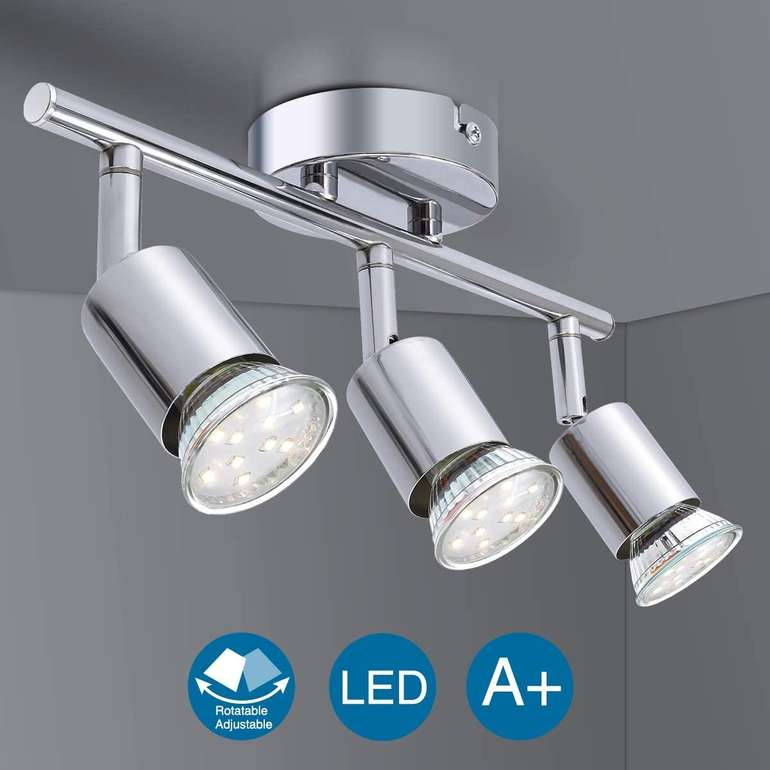 Elfeland schwenkbare LED Deckenleuchte (GU10 Fassung, EEK: A+) für 11,82€ inkl. Prime Versand (statt 17€)