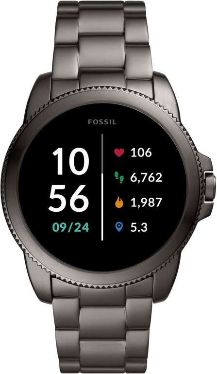 Fossil Gen 5E Smartwatch mit Lautsprecher, Herzfrequenz, GPS und NFC in Grau für 143,10€ inkl. Versand (statt 178€)