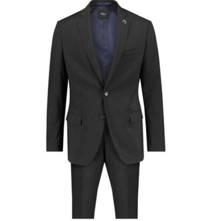 s.Oliver Black Label Herren Anzug in schwarz für 84,19€ inkl. Versand (statt 110€)