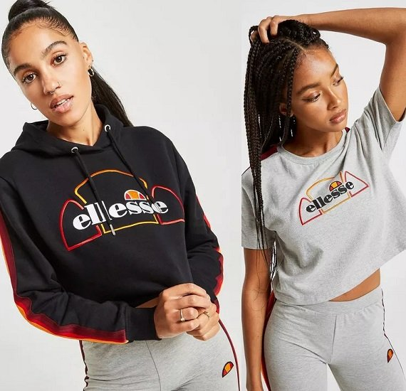 Ellesse Rainbow Tape Crop Damen Hoodie für 34€ inkl. VSK (statt 54€) - T-Shirt für 15€!