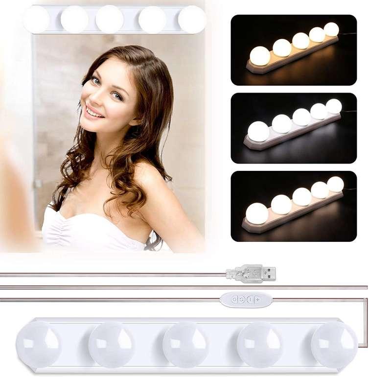 Winzwon LED Spiegelleuchte (5 LED Birnen, dimmbar) für 8,99€ inkl. Prime Versand (statt 15€)