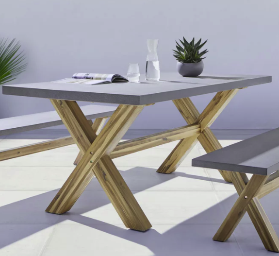 """Bessagi Home Gartentisch """"Timo"""" in grau (180 x 90 cm) für 339€ inkl. Versand (statt 399€)"""