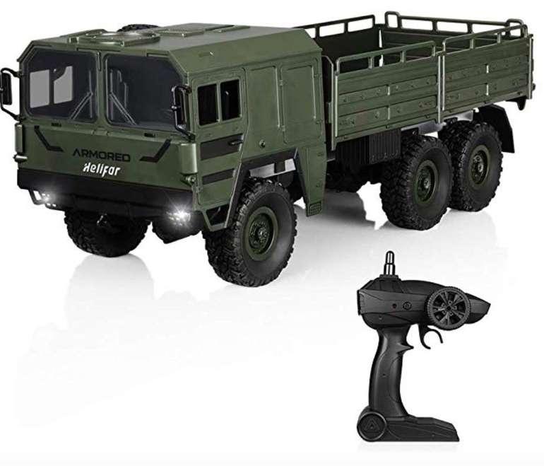 Helifar RC Militär Truck (1:16, 6WD) - Ferngesteuerter LKW mit bis zu 12km/h für 29,49€