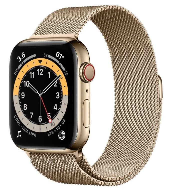 Amazon Prime Day: Apple Watch Series 6 (GPS + Cellular, 40 mm) Edelstahlgehäuse, Milanaise Armband für 679€