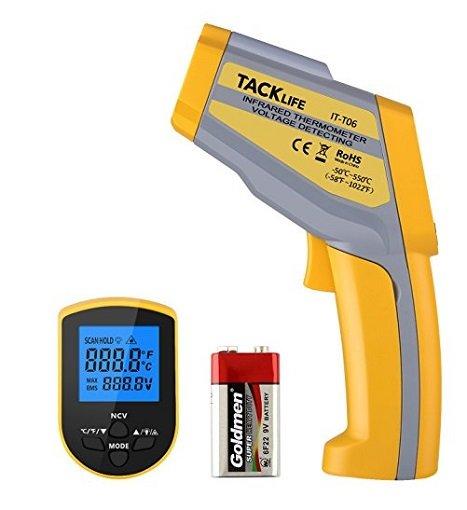 Tacklife IT-T06 Digital Berührungsloses Dual Laser Thermometer für 14,99€