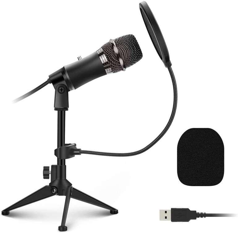 Eivotor USB Mikrofon mit verstellbarem Stativ für 11,87€ inkl. Prime Versand (statt 20€)