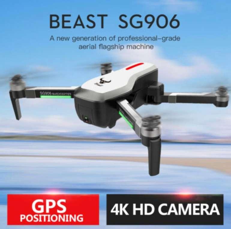 Faltbare SG906 GPS 4K Drohne mit Brushless Motor für 81,99€ inkl. Versand (statt 159€)