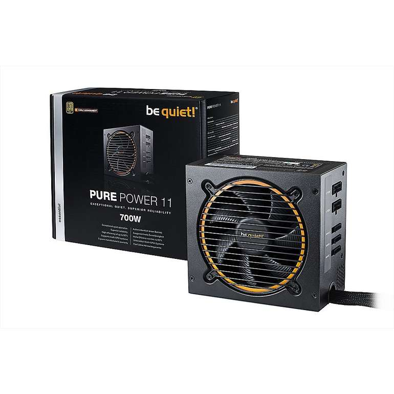 be quiet! Pure Power 11 CM Lüfter mit 700 Watt (ATX V2.4 Netzteil 80+ Gold, 120mm) für 81,99€ inkl. Versand (statt 95€)- Newsletter!