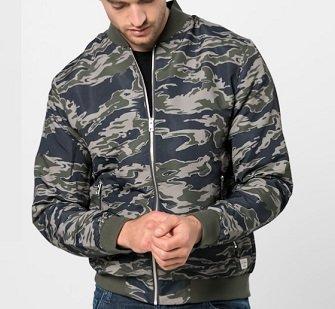 Jack & Jones Herren Bomberjacke jorNew Pacific in Camouflage für 15,69€
