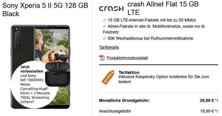 Sony Xperia 5 II 5G 128GB Crash Vodafone Allnet-Flat 15GB