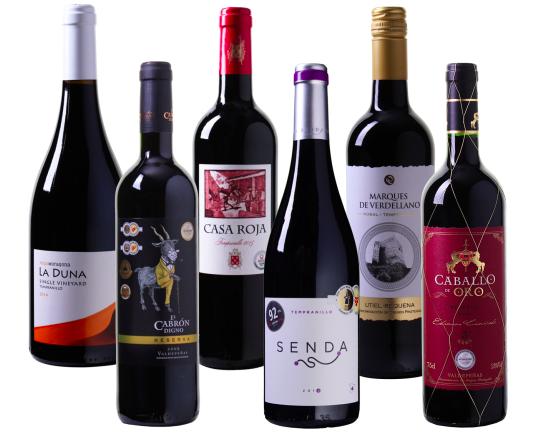 6 Flaschen Wein Probierpaket Tempranillo für 35,94€ inkl. Versand