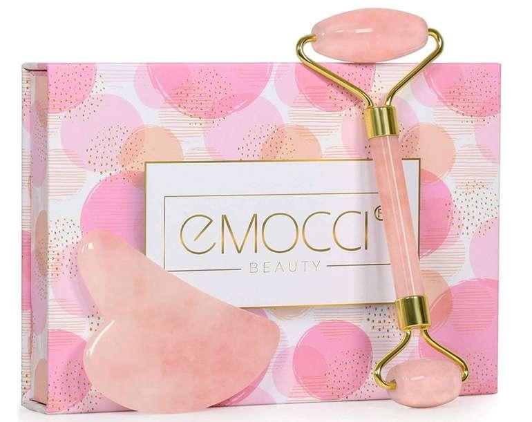 Emocci Jade Roller - Rosenquarz Massagegerät für 7,28€ inkl. Prime Versand (statt 10€)