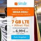 Sim.de: o2 Tarif mit 7GB LTE + Allnet Flat (VoLTE, WLAN Call, 3 Monate Kündigungsfrist) für 6,99€ mtl. (statt 12,99€)