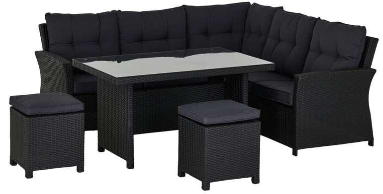 A casa mia Lounge-Set Lochau (integriertes Stahlgestell)