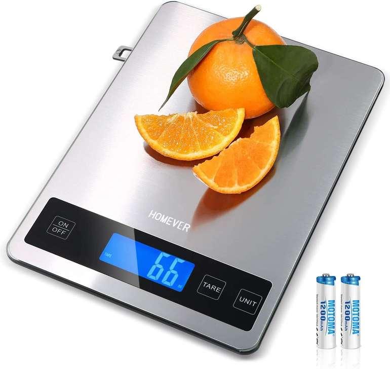 Homever digitale Küchenwaage mit LCD-Display (bis 15kg) für 11,49€ inkl. Prime Versand (statt 23€)