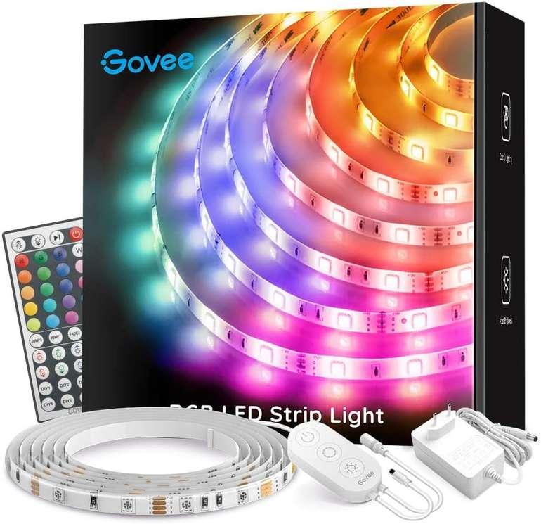 Govee 5m RGB LED Streifen (wasserdicht, Fernbedienung, EEK A+) für 11,99€ inkl. Prime Versand (statt 17€)