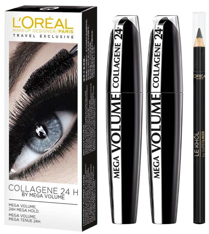 L'Oréal Paris Mega Volume Collagene Mascara Duo (2x 9ml Mascara + 2g Contour Khôl) je 11,90€ inkl. Versand (statt 16€)