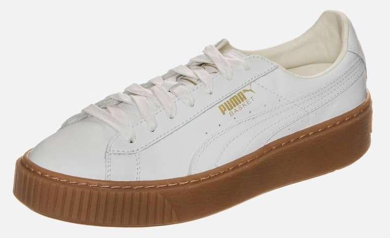 Puma Basket Core Sneaker in weiß (Größe 39 und 40) für 21,25€ (Vergleich: 45€)