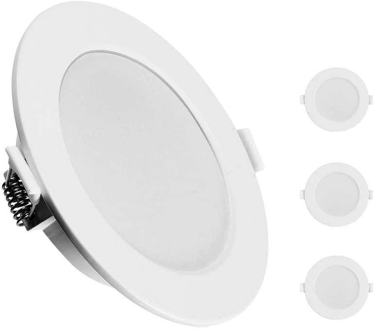 Kingso 3er Set LED Einbaustrahler (7W, IP44) für 12,59€ inkl. Prime Versand (statt 18€)