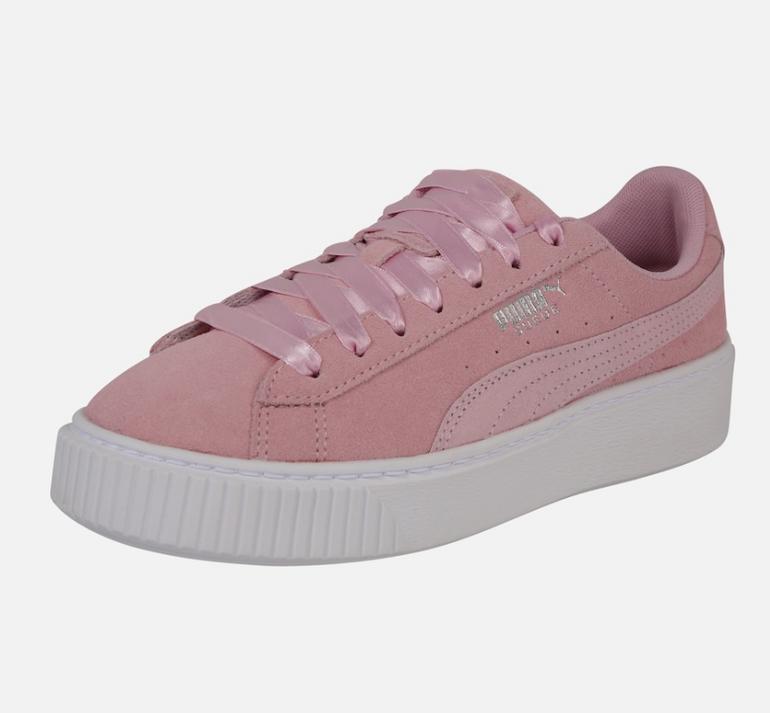 Puma Platform Galaxy Damen Sneaker in rosa für 28,73€ inkl. Versand (statt 55€)