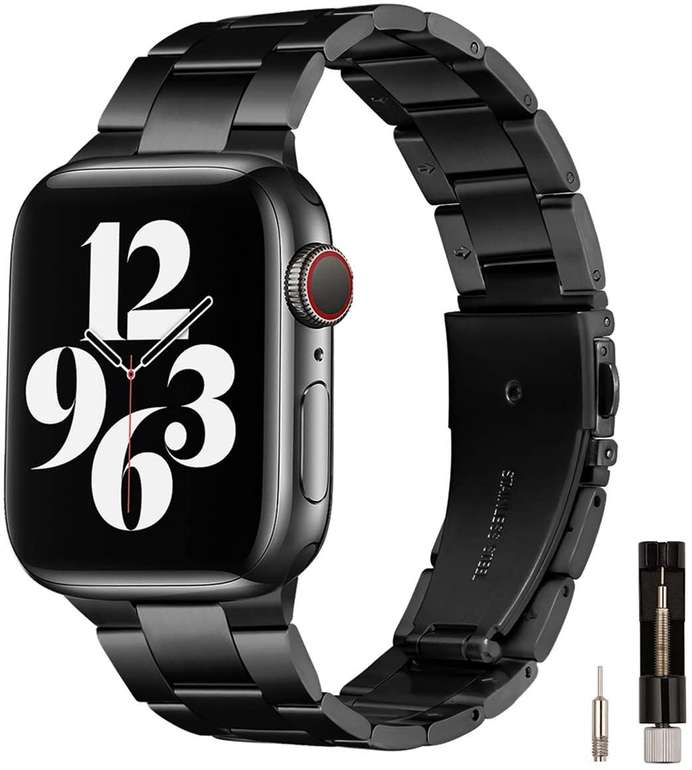 Gearyou Metall Armband (Apple Watch kompatibel) für 8,40€ inkl. Prime Versand (statt 21€)