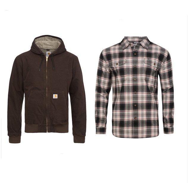 Carhartt Sale bei Outlet46 - z.B. Hemden je 9,99€ und Jacken für 39,99€