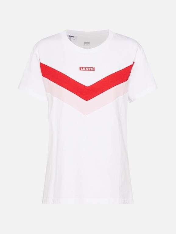 """Levi's Damen T-Shirt """"Florence"""" in Rot/Schwarz/Weiß für 26,01€ inkl. VSK"""
