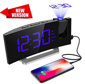 Mpow - Projektionswecker mit Radiofunktion und USB-Ladeanschluss für 16,69€