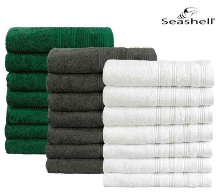 7x Seashell Handtücher - Luxor Hotel Deluxe Collection (50x100cm- 550g/m2) für 25,90€ (statt 45€)