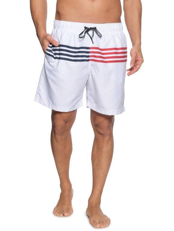 Tommy Hilfiger Badeshorts long in Weiß für 31,92€ inkl. VSK