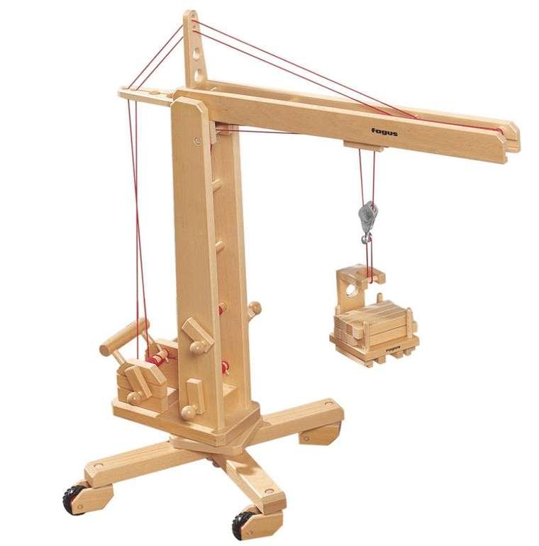 Holzspielzeug: Fagus 10.40 Hochkran (lenkbar) für 97,19€ inkl. Versand (statt 122€) - Newsletter!