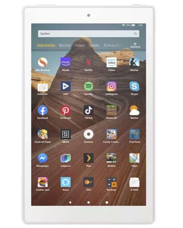 FireHD10-Tablet 9. Generation mit 10,1 Zoll Full-HD, 32GB Speicher und Werbung für 99,99€ (statt 150€)