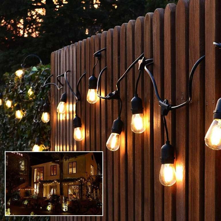 Vingo wasserdichte LED Glühbirnen Lichterkette in zwei Längen ab 21,99€ inkl. VSK