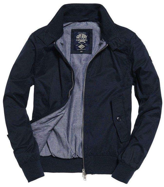 Herren Superdry Nordic Harrington-Jacke Navy für 16,49€ inkl Versand (statt 35€)