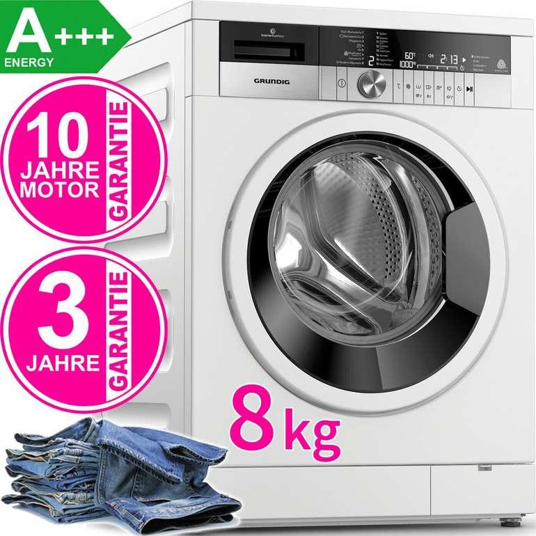 Grundig GWN48440W – 8kg Waschmaschine (Inverter Motor, WasserProtect+, Frontlader, A+++) je 359,90€