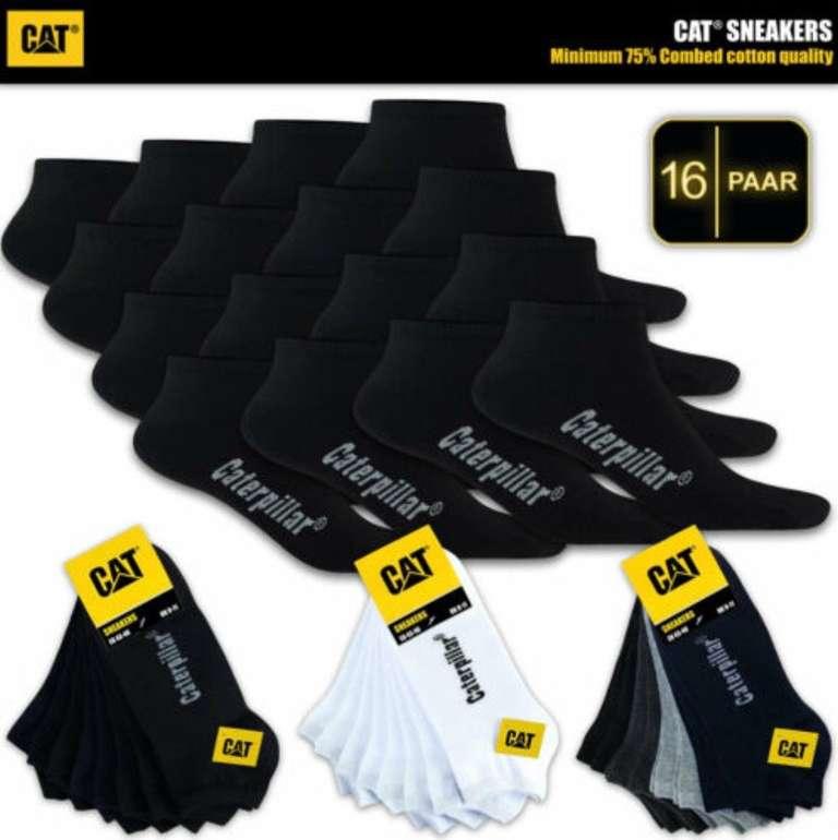 16er-Pack Caterpillar Sneaker-Socken (Herren) für 28,90€ inkl. Versand (statt 37€)